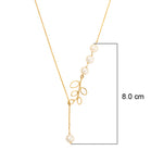 Hema Handmade Elegant Pearl 18ct Yellow Gold Necklace