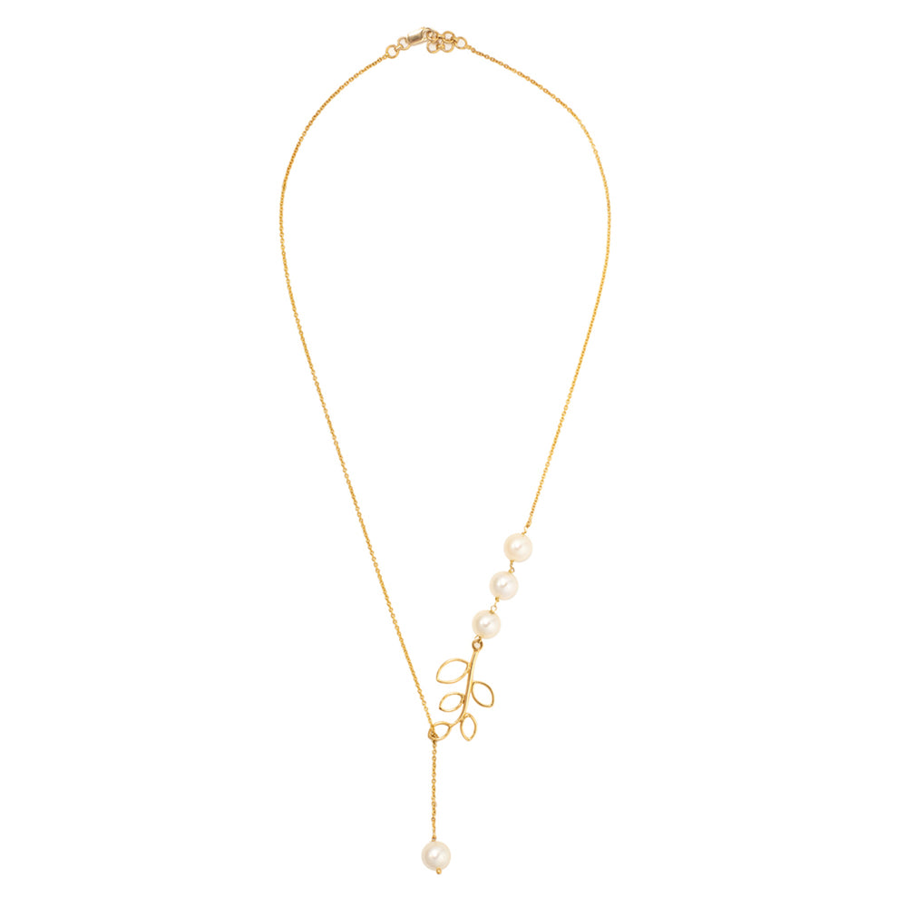 Buy Online Pearl Necklace-Hep Audrey Hema Collection Elegant Pearls 18ct Yellow Gold Necklace UK