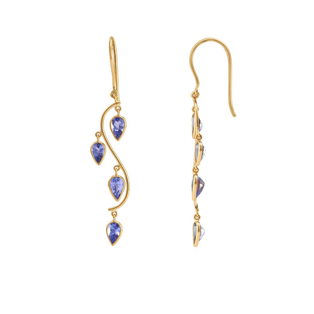 Buy Online  Dew Drop Earrings-Hema Collection Floating Tanzanite Earring UK