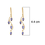 Buy Handmade Earrings Online- Hema Collection Floating Tanzanite Earring UK