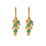 Hep Audrey Hema Collection Handmade Abstract Emerald 18ct Yellow Gold Earrings 1