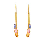 Buy Online Hema Multi Sapphires 18ct Yellow Gold Earrings 1