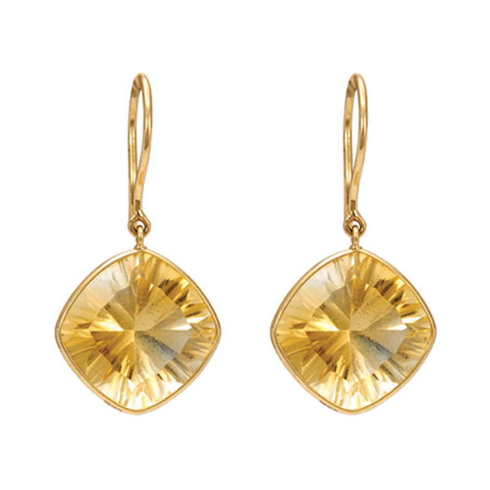 Buy Online Hema Collection Regal Citrine Yellow Gold Earrings 1