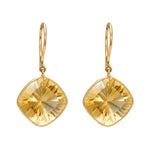 Hema Handmade Regal Citrine 18ct Yellow Gold Earrings