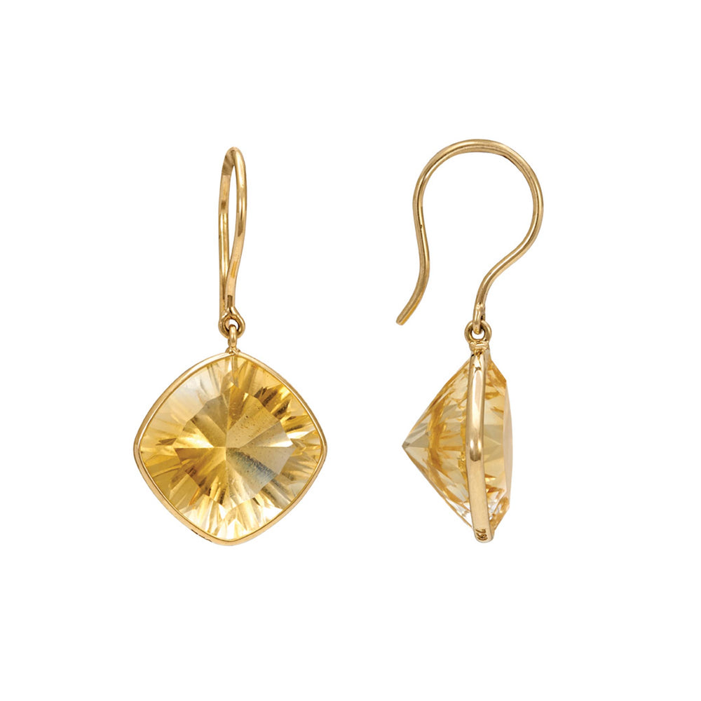 Buy Online Sterling Silver Earrings-Hema Collection Regal Citrine Yellow Gold Earrings UK