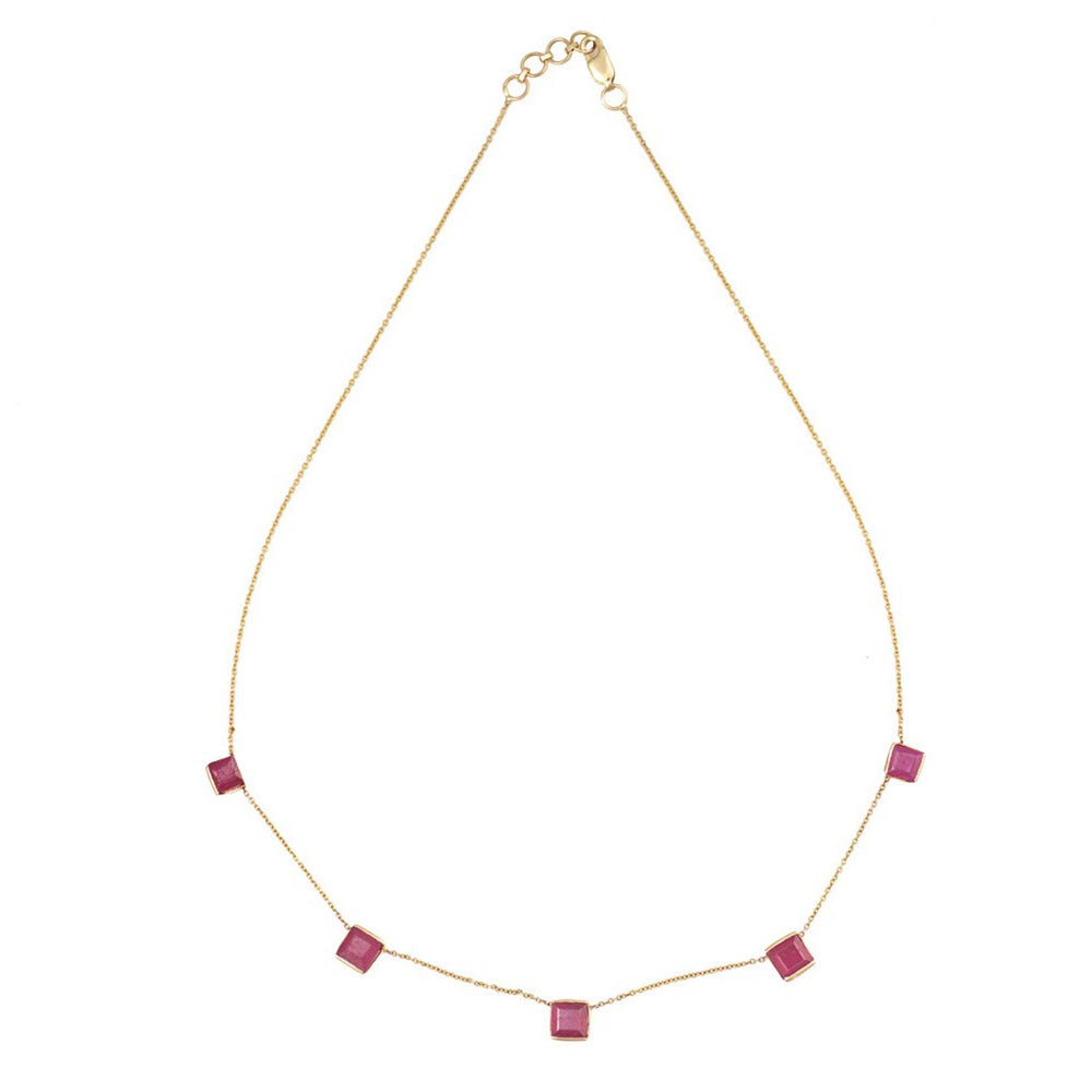 Affordable 18ct Gold Ruby Necklace UK