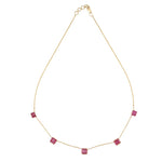 Hema Handmade Royal Ruby 18ct Yellow Gold Necklace
