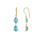 Buy - Hep Audrey Hema Collection Blue Topaz Gold Earrings UK