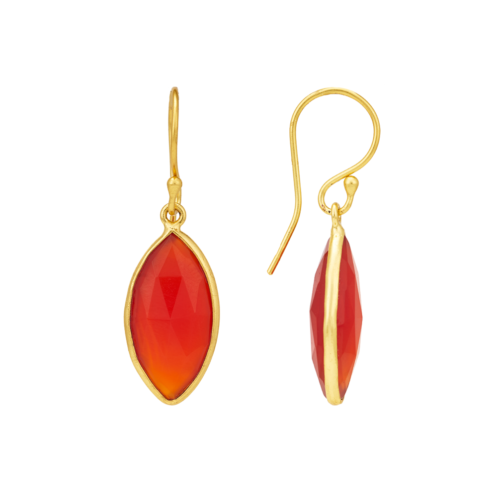 Hep Audrey Corona Collection Stunning Marquise Sterling Silver Earrings With Red Onyx 3