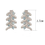 Buy Online London UK French Braid Sterling Silver Earrings with Blue Topaz 3