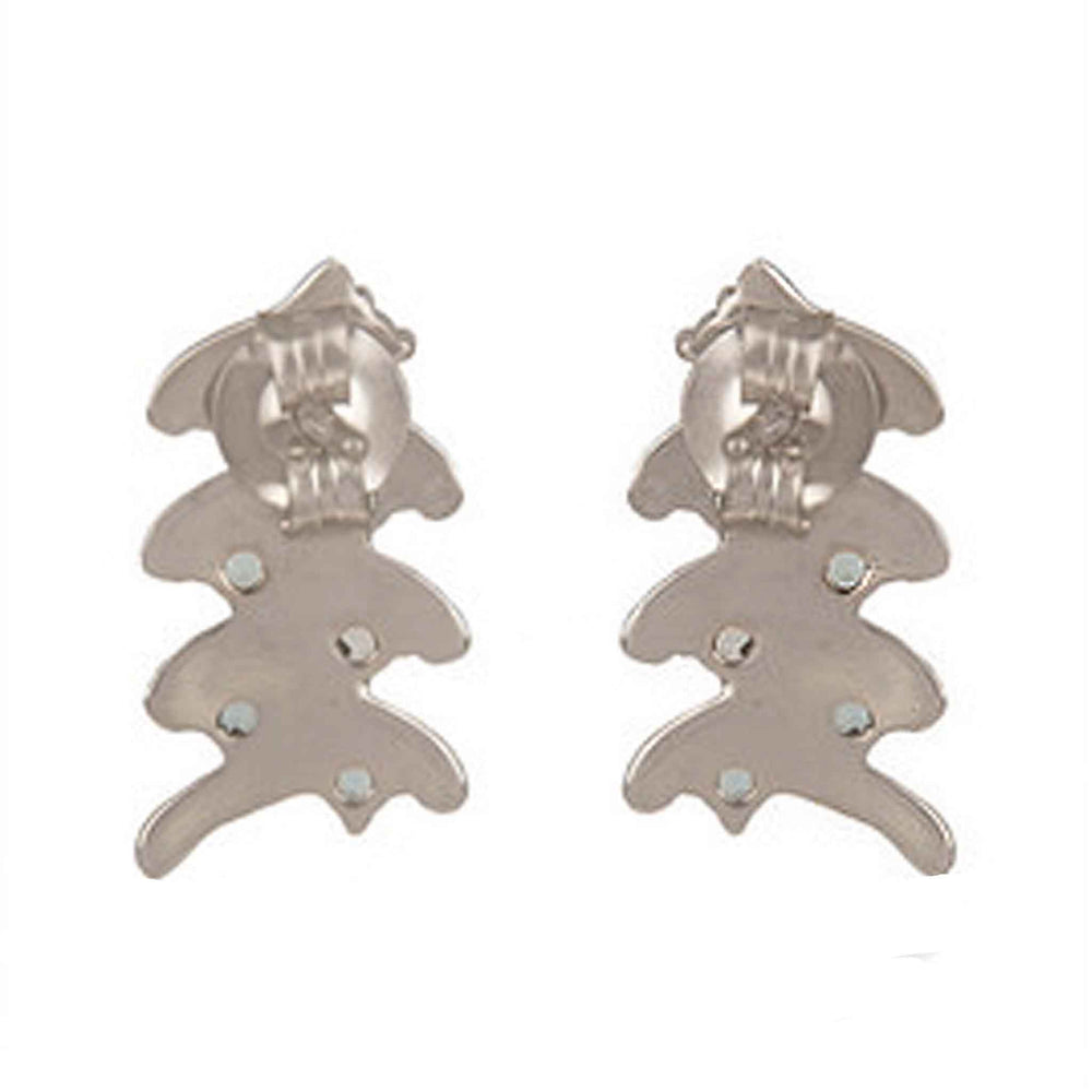 Buy Online London UK - Sterling Silver Earrings with Blue Topaz 2