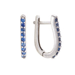 Hep Audrey Shoop Collection Handmade Blue Sapphire 18ct White Gold Earrings 1