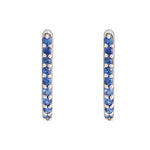Hep Audrey Shoop Collection Handmade Blue Sapphire 18ct White Gold Earrings 3