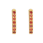 Hep Audrey Shoop Collection Handmade Glorius Garnet 18ct Yellow Gold Earrings 3