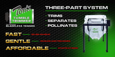 Tom's Tumbler™ TTT 1900 Dry Trimmer, Separator and Pollen Extraction System - TomsTumbleTrimmer.com