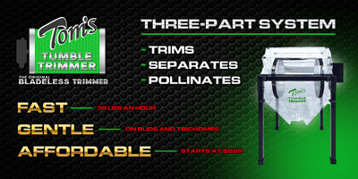 Tom's Tumbler™TTT 2600  Dry Trimmer, Separator and Pollen Extraction System-WHOLESALE - TomsTumbleTrimmer.com