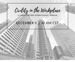 Webinar:  Civility in the Workplace
