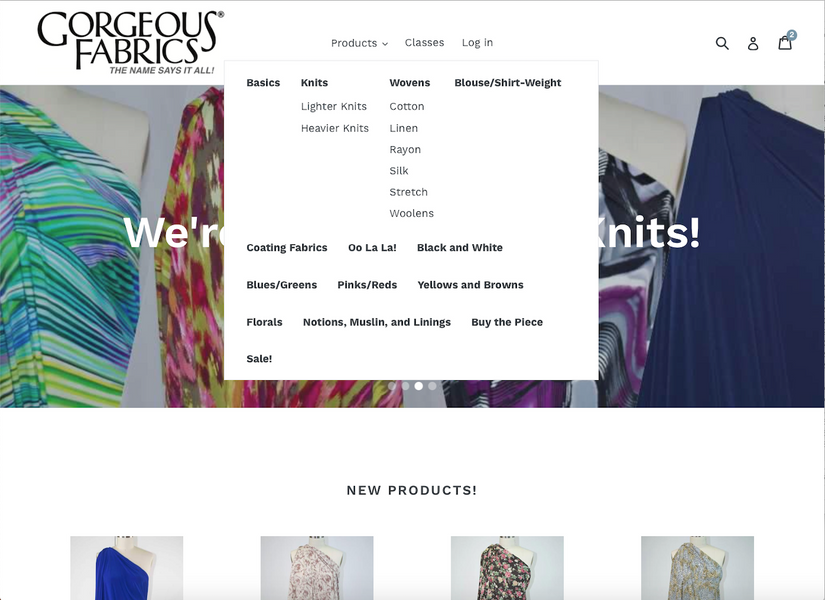 Navigating the Gorgeous Fabrics Website