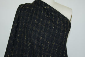 Anne Kle!n Widowpane Check Bouclé - Black/Gold