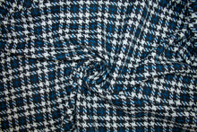 J0nes NY Houndstooth Check Bouclé - Blue/Black/White