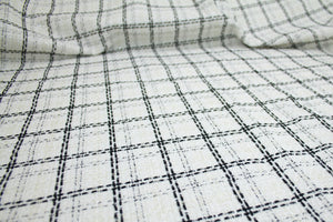 J0nes NY Windowpane Plaid Bouclé - Black/White/Gold