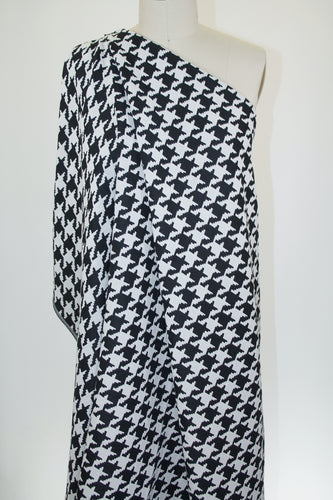 Reversible J0nes NY Houndstooth Jacquard Suit Weight - Black/Off White