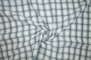 Super Soft J0nes NY Windowpane Check Bouclé - Black/White/Silver