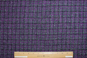 J0nes NY Holiday Bouclé - Purple/Black/White/Gold