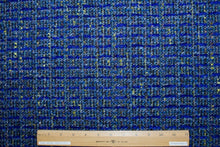 Italian Couture Wool Blend Bouclé - Blues/Olive/Black