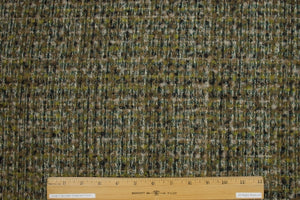 2 yards of French Wool Bouclé - Olive Tones