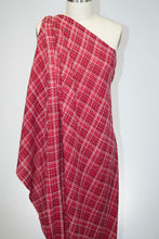 NY Designer Plaid Bouclé - Red/White/Black