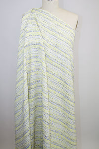 Haute New York Designer Bouclé - Yellow/Gray/White