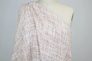 French Couture Bouclé - Peach Tones/White/Gold