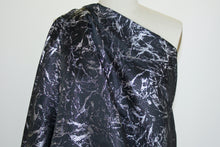 2 1/8+ yards of Extra Wide Reversible NY Designer Marble Effect Brocade - Black/Silver