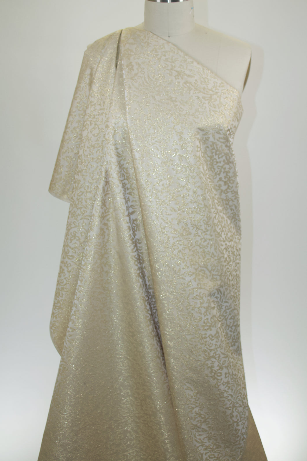 M@rk Jac0bs Metallic Brocade - Ivory/Gold