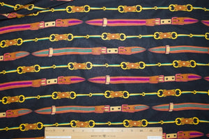 N@nette Lep0re Equestrian Belts Silk Crepe de Chine - Multi on Black