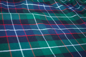 RL Plaid 100% Cotton Flannel Twill - Blue Green Red