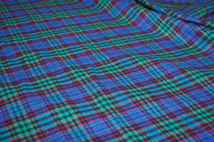 RL Plaid 100% Cotton Flannel Twill - Blue Green Red Black