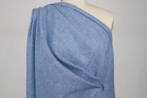 Super Soft 100% Cotton Flannel Twill - Heathered Blue