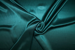 Italian Couture Silk Charmeuse - Hunter Green