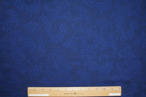 Latticework Cotton Jacquard - Blue/Black