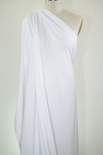 3/4+ yard of Classic Top Weight  Cotton Jersey - White