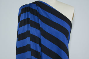 Beefy Striped Cotton Knit - Royal/Black
