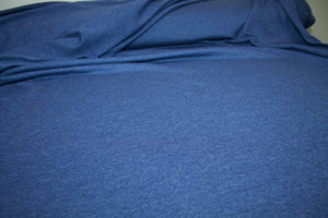 Classic Cotton Blend Jersey - Medium Heathered Blue