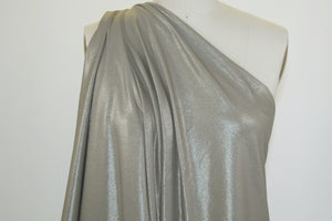 Dancing Queen Coated Cotton Jersey - Golden Taupe
