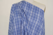 Yarn Dyed Plaid Italian Cotton Lawn - Blue/White