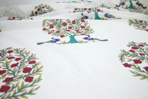 Peacock Alley Soft Cotton Lawn - Blue/Greens/Red/Natural-White