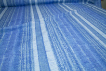 1 5/8 yards of Tori Richard Stripe Impression Cotton Lawn - Blue Tones