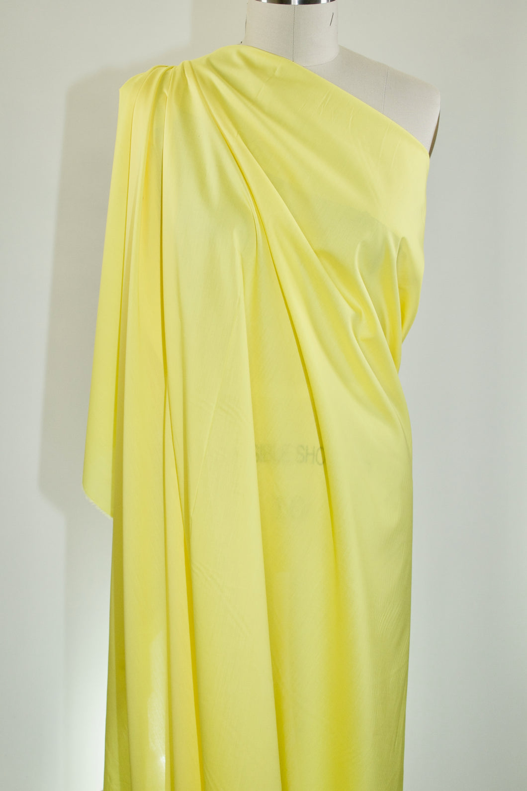 Italian Designer Satin Faced Cotton Shirting - Blazing Yellow
