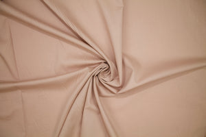 Italian Designer Satin Faced Cotton Shirting - Café au Lait